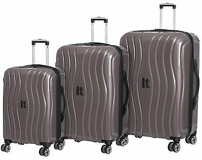 IT Luggage Hard 8 Wheel Suitcase Metallic - Choice of Small/Medium/Large - Argos