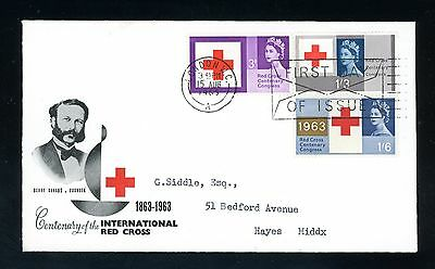 GB  1963  Red Cross  (ord)  Illustrated  First Day Cover   (J1062)