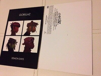 Gorillaz - Demon Days... Rare promo postcard,  From 2005