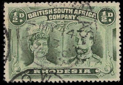 """RHODESIA 101ai (SG120) - Queen Mary and King George V """"Bluish Green"""" (pa81894)"""
