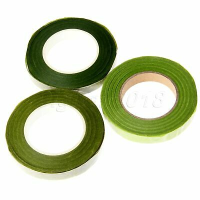 12mm Green Florist Floral Stem Tape Rose Flower Stamen DIY Wrinkle Paper Décor