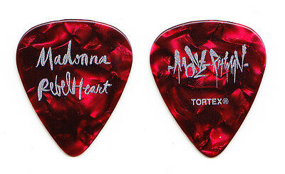 Madonna Monte Pittman Signature Red Pearl Guitar Pick - 2016 Rebel Heart Tour