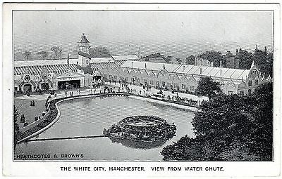 Postcard View From Water Chute-Box Ball-Helter Skelter-White City-Manchester