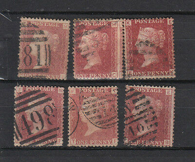 A very nice old GB Victorian Penny Reds group