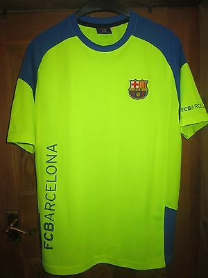 Official Barcelona Football Training Shirt,day Glow Yellow,large