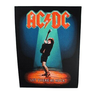 "XLG ""AC/DC Let There Be Rock"" Large Band Patch Angus Young ACDC Sew-On Applique"