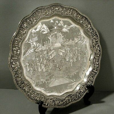 Chinese Export Silver Tray                        ARMIES IN PALACE