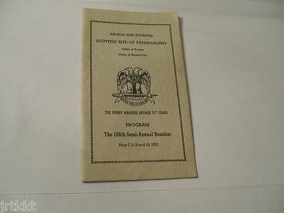 1951 Ancient And Accepted Scottish Rite of Freemasonry Reunion Kansas City book