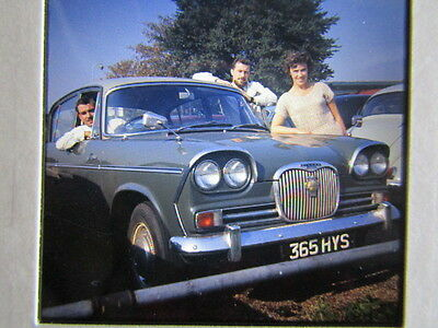 2 inch COLOUR TRANSPARENCY EIGHT 1960`S CARS MINI SINGER VOGUE FORD CLASSIC