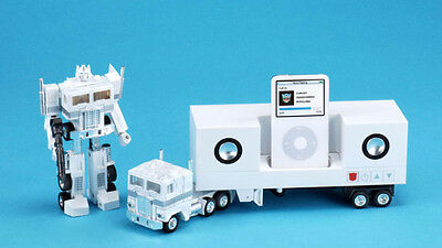 Transformers Optimus Prime White Ipod Station (Ipod Not Included) Takara Tomy