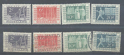 Netharlands stamp centenary set lightly mounted mint and good to fine used