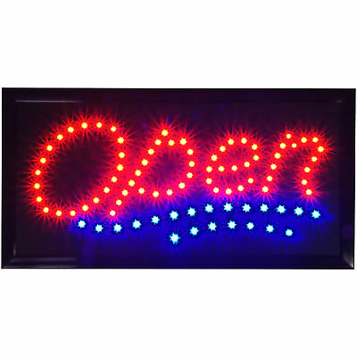 Bright Animated 19x10 Classic Wavy Open LED Store Business Bar Window Signs neon