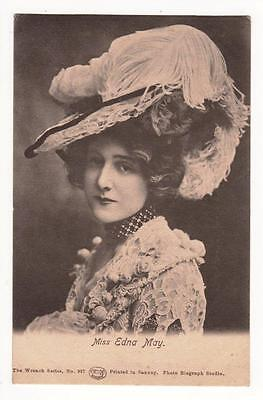 VINTAGE RP POSTCARD,MISS EDNA MAY,EDWARDIAN ACTRESS,c1904,WRENCH SERIES
