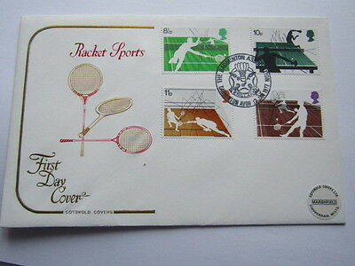 Gb Fdc First Day Cover Racket Sports Badminton Association 1977 Hand Stamp