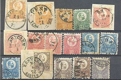 Hungary duplicated used range of the first issues to 25kr