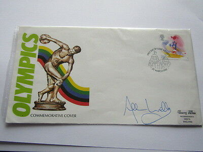 Gb Fdc 1988 Olympics Wembley Hand Stamp Signed By Alan Wells 1980 100 Meters