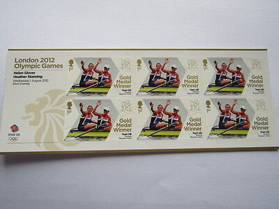 London Olympics 2012 Gold Medal Winner 6 Stamps Helen Glover Heather Stanning