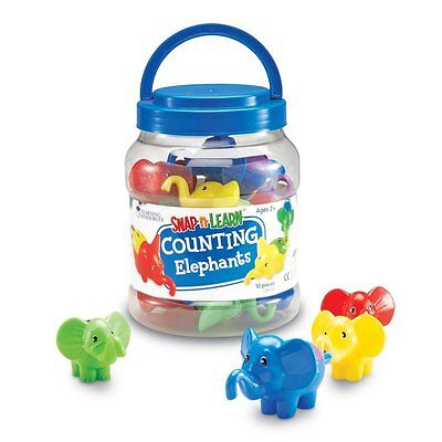 Counting Elephants 10 Piece Set by Learning Resources