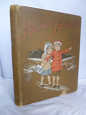 Nister's Holiday Annual for 1897 - Chromo Plates & Louis Wain Illustrations HB