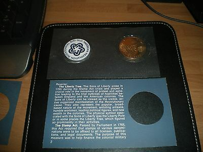 USA 1972 38mm BICENTENNIAL PROOFLIKE MEDAL FIRST DAY COVER - sealed pack