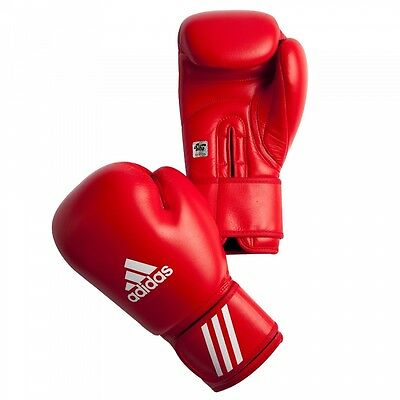 Adidas AIBA Competition Boxing Gloves - 12 oz - Red