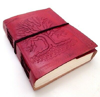 Hand Made Leather Blank Journal Diary Notebook Book Sketch Gift Pad Thoughts