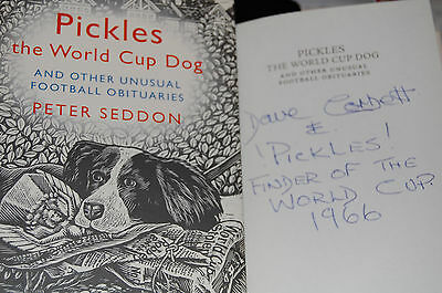 Pickles The World Cup Dog Signed By Dave Corbett