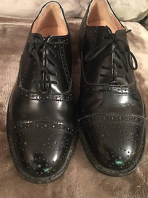 "Mens ""Clifford Jones"" Black lace up shoes size 8 Brogue style lace ups worn"