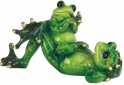 6.25 Inch Child Frog Sitting on Father Frog Figurine