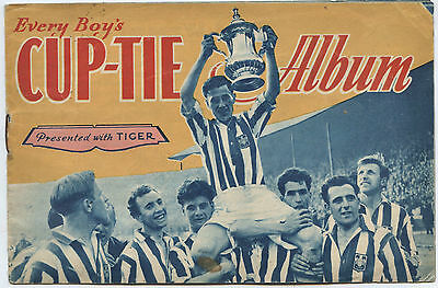 Every Boys CUP-TIE ALBUM 1955 presented with Tiger comic