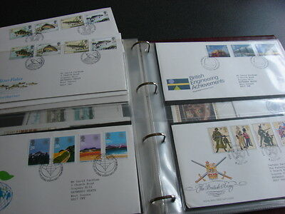 Quality Royal Mail First Day Cover ALBUM WITH 59 FDC'S 1981-1984