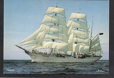 Postcard Of Tall Ship Tovarich (Gorch Fock 1) Unposted