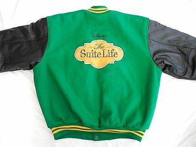 Disney Channel THE SUITE LIFE of ZACK & CODY Cast & Crew Letterman Jacket LARGE