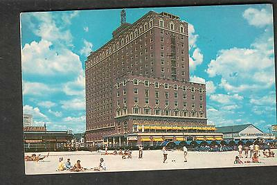 1958 post card Atlantic City The Ritz Carlton Hotel/beach to Bronx NY