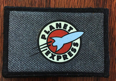 Futurama Planet Express Morale Patch Tactical Military Army Flag USA Badge Hook