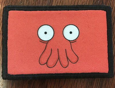 Futurama Dr. Zoidberg Morale Patch Tactical Military Army Flag USA Badge Hook