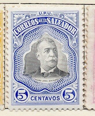 El Salvador 1906 Early Issue Fine Mint Hinged 5c. 120980