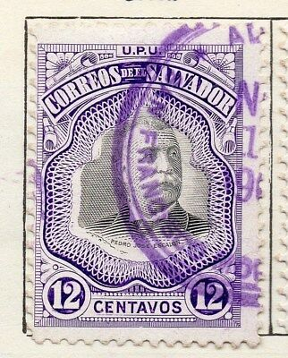 El Salvador 1906 Early Issue Fine Used 12c. 120983