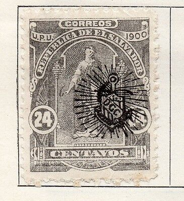 El Salvador 1900-01 Early Issue Fine Mint Hinged 24c. Optd 121000