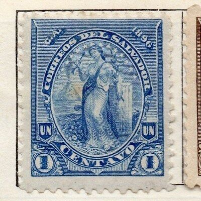 El Salvador 1896 Early Issue Fine Mint Hinged 1c. 121010