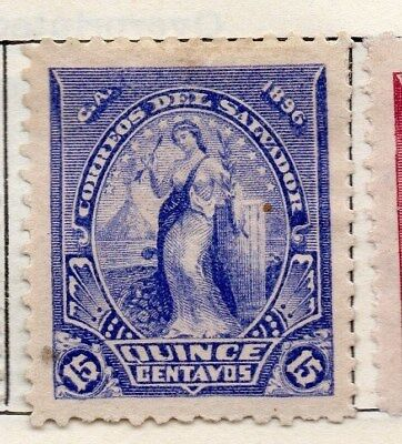 El Salvador 1896 Early Issue Fine Mint Hinged 15c. 121015