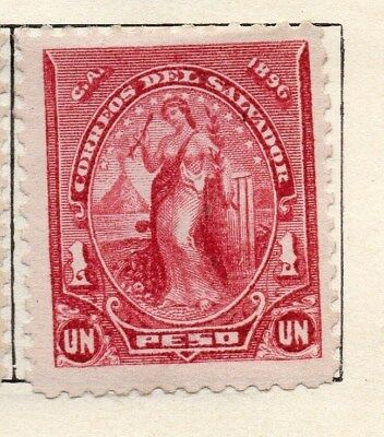 El Salvador 1896 Early Issue Fine Mint Hinged 1P. 121019