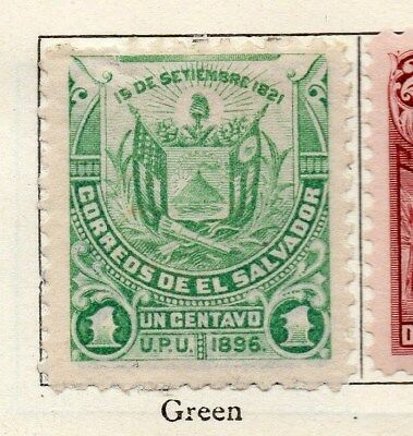 El Salvador 1896 Early Issue Fine Mint Hinged 1c. 121020