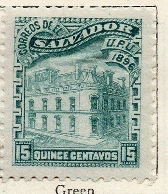El Salvador 1896 Early Issue Fine Mint Hinged 15c. 121026