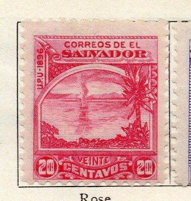 El Salvador 1896 Early Issue Fine Mint Hinged 20c. 121027