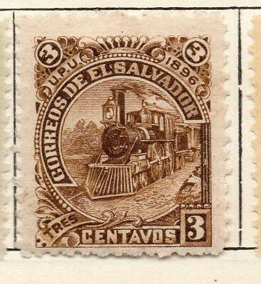 El Salvador 1897 Early Issue Fine Mint Hinged 3c. 121034