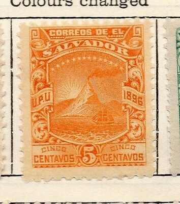 El Salvador 1897 Early Issue Fine Mint Hinged 5c. 121035