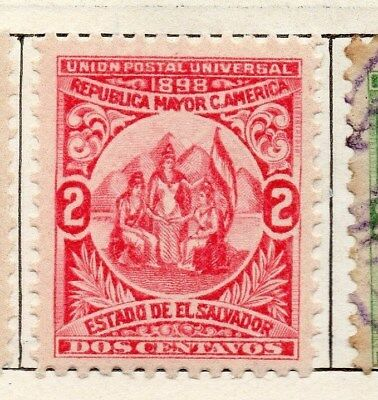 El Salvador 1898 Early Issue Fine Mint Hinged 2c. 121048