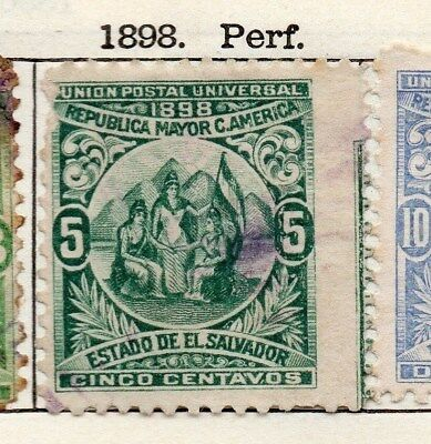 El Salvador 1898 Early Issue Fine Used 5c. 121050
