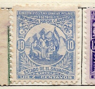 El Salvador 1898 Early Issue Fine Mint Hinged 10c. 121051